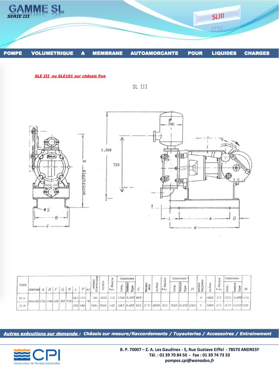 Pompe à membrane SL3