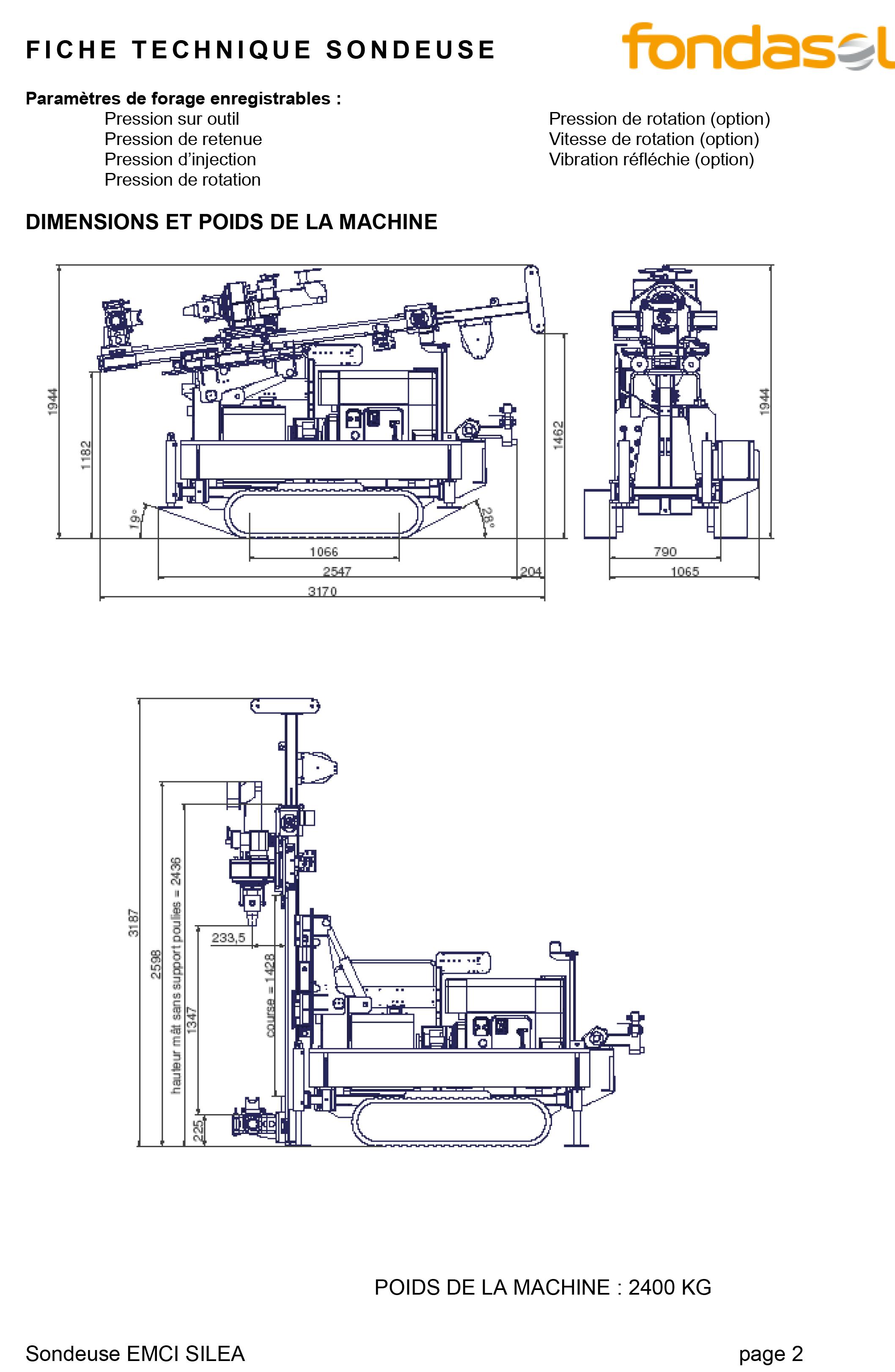 Fiche technique EMCI SILEA 45-5 (2)