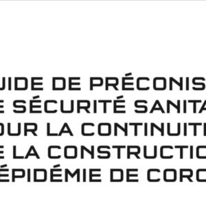 Covid 19 Guide de prévention construction