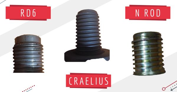 Filetages Craelius, RD6 et N Rod