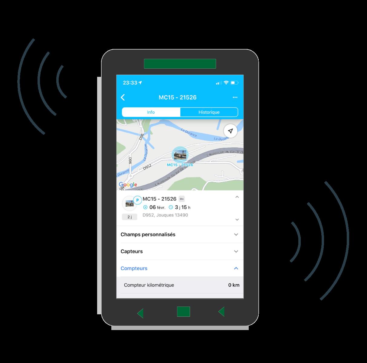 Foraloc Connect Application sur mobile