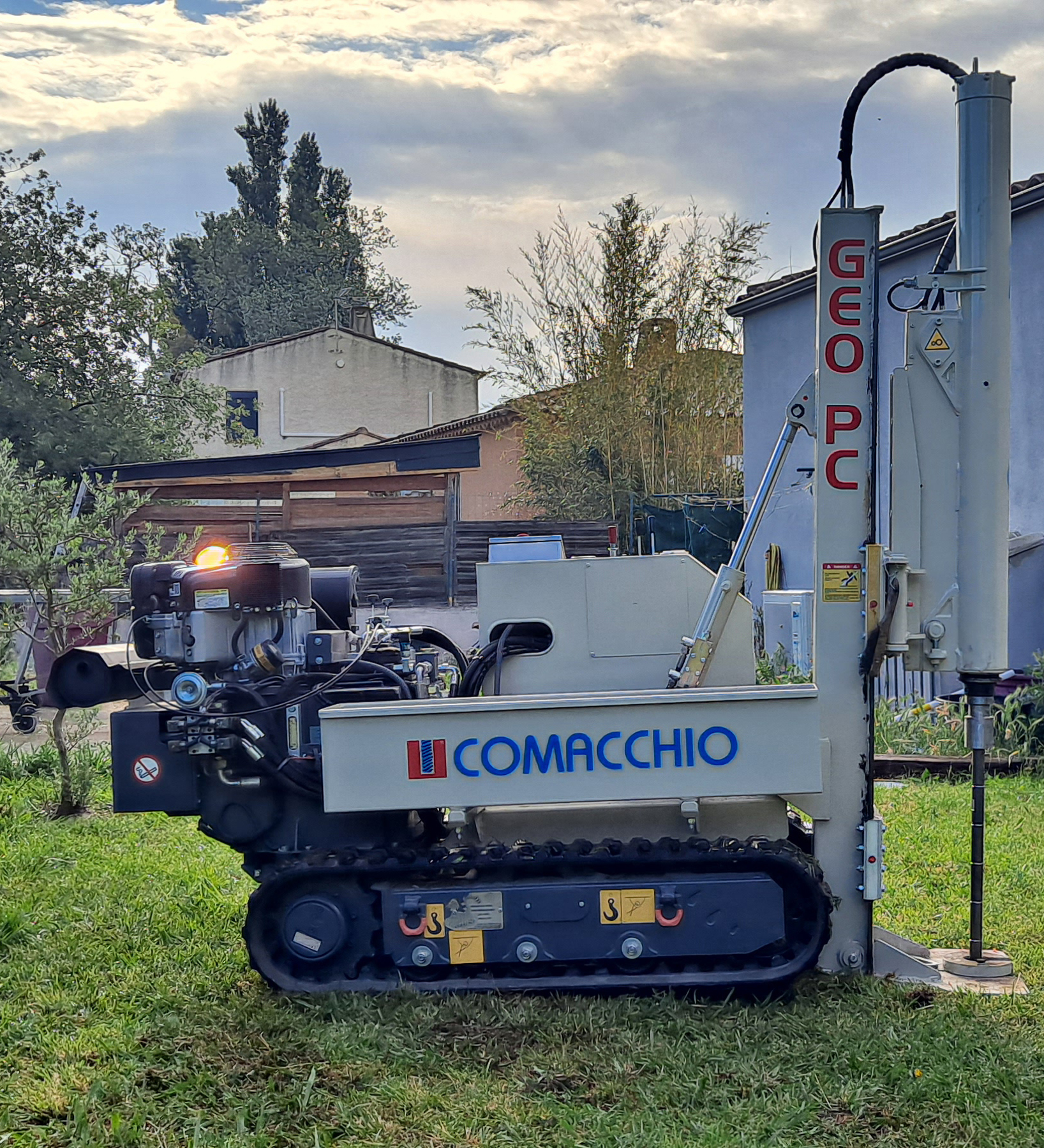 Comacchio GEO PC Pénétromètre et sondage sur chantier